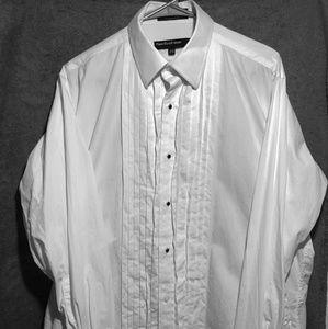 Mens Perry Ellis Tuexedo Shirt